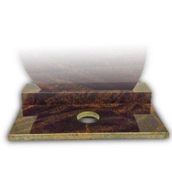 brūna granīta ziedu plāksne