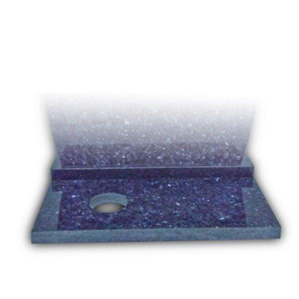 zila ziedu plāksne